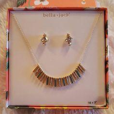 FINAL MARKDOWN/Bella Jack set Beautiful necklace and earing set bella jack Jewelry