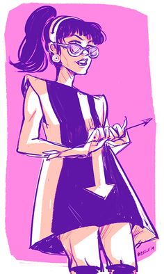 Katie-Kate in a 60s mod dress