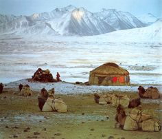 Pamir Mountains, Tajikistan. Picturesque mountain landscape. Would be up for challenge of camping here. #bucketlist