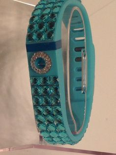 Custom fitbit replacement band with bling by TwinkleBridge on Etsy