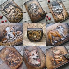 How to Faux Leather Paint Leather Box, Leather Gifts, Leather Craft, Leather Purses, Leather Wallet, Leather Tooling Patterns, Leather Carving, Painting Leather, Leather Projects