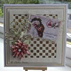 By Debbie Stevens using Spellbinder Dies...wouldn't this be nice to do some type of wedding one?