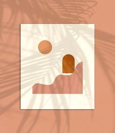 """Respite"" of the Desert Magic print series by Buhlaixe ornament + object design studio. #minimalist #modern #artprint #desert #branding #wallart #homedecor #contemporaryart #fineart #desertdwelling #buhlaixe #interiordecor #interiordesign"