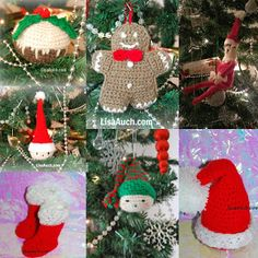 FREE #Crochet Patterns for Christmas Decorations & Christmas Ornaments To Hang on your Tree