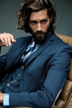 Male Grooming | Maximiliano Patane | Men's haircut hairstyle | Long curly hair | Facial hair beard |
