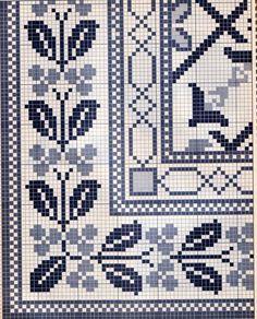Miniature needlework, Miniature rug chart