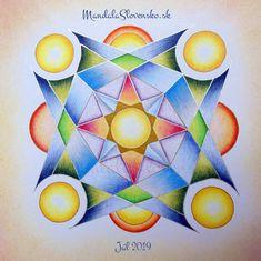 Júl Afirmácia : Keď nájdeš Ja vo svete, tak svet nájdeš v sebe. New Earth, Sacred Geometry, Affirmations, Mandala, Hand Painted, Handmade, Hand Made, Craft, Mandalas