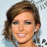 Audrina Patridge Updo: Sexy Loose Side Bun Updo with Bangs