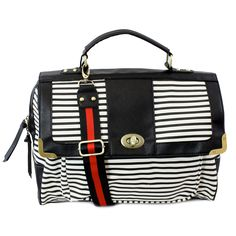 Upper West Side Striped Bag