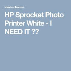 HP Sprocket Photo Printer White - I NEED IT ❤️