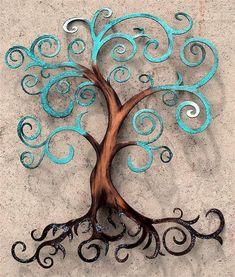 Tree of Life Curly Tree Wall Decor Wall Art Tree of Life Curly Tree Wall Decor Wall by HumdingerDesignsEtsy Metal Tree Wall Art, Metal Art, Klimt, Tree Wall Decor, Wall Art Decor, Sculpture Metal, Tree Artwork, Art Mural, Art Plastique