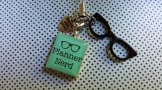 Planner Nerds, this ones for you! This cutesy, chic charm can dangle from any of your planners..and I can even alter it to just hang from the