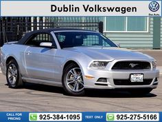 2014 Ford Mustang V6 Premium 61k miles Call for Price 61617 miles 925-384-1095 Transmission: Automatic  #Ford #Mustang #used #cars #DublinVolkswagen #Dublin #CA #tapcars
