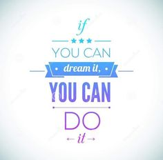 You Can Do It Quote Typographical Poster, Vector - Image: 43865003