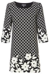 Apricot Monochrome Floral & Check Shift Dress  http://www.apricotonline.co.uk/mall/productpage.cfm/womensclothing/_5051839144071/461694/Monochrome-Floral-%26amp%3Bamp%3B-Check-Shift-Dress