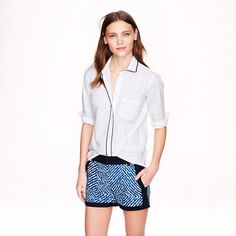 Abstract diamond short - chino & cotton - Women's shorts - J.Crew