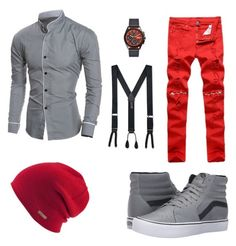 """""""Attention Grabber #ClubScene🍸"""" by taron-mccray on Polyvore featuring Vans, FOSSIL, Trafalgar, Coal, men's fashion and menswear"""