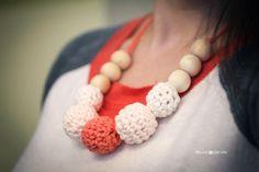 Image result for crochet nursing necklace