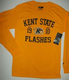 27c2e478 KENT STATE UNIVERSITY FLASHES New NCAA College Long Sleeve T-shirt M (38-