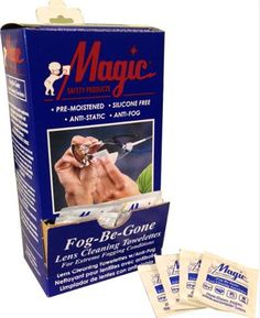 Magic Fog Be Gone Lens Cleaning Towelettes