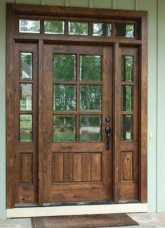 Green Front Doors, Wooden Front Doors, The Doors, Glass Front Door, Craftsman Front Doors, Front Doors With Windows, Bay Windows, Glass Doors, Interior Barn Doors