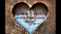 Grief IS Love Grief isn't what comes AFTER love, grief IS love. Grief is love with no place to go. It's what a heart is left with when the person upon which that love would be lavished is no longer available to receive what is offered. Grief will always be great where love is large. <3 #thelifeididntchoose