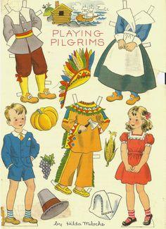Thanksgiving paper dolls and vintage post cards - Bobe Green - Picasa Webalbum