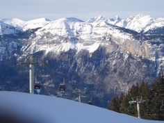 Skiing, French Alps