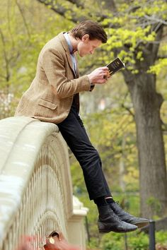 The Doctor in Central Park. This is my favorite pic of Matt Smith