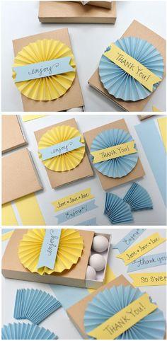 Pretty Pleats DIY Favor Boxes || Smitten on Paper