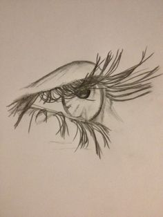 Drawing - pencil sketch of an eye