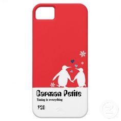 ペンギンのカップルの赤いハート愛iPhone5ケース iPhone 5 Case-Mate ケース