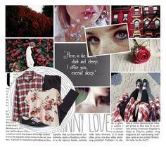 """""""Here, in the Forest, Dark and Deep. I Offer You Eternal Sleep."""" by bvbarmy-jaseyrae ❤ liked on Polyvore featuring Madewell, H&M and Vans"""