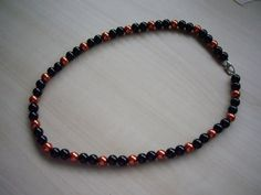 Black and Copper Pearl Necklace £17