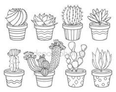 Find Cactus Succulent Contour Collection Set Doodle stock images in HD and millions of other royalty-free stock photos, illustrations and vectors in the Shutterstock collection. Succulents Drawing, Cactus Drawing, Cacti And Succulents, Cactus Painting, Outline Drawings, Art Drawings, Cactus Doodle, Cactus Embroidery, Botanical Line Drawing