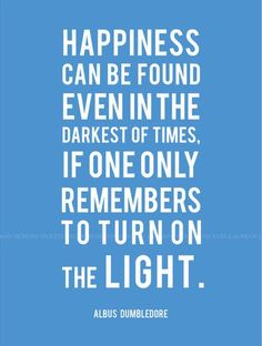 Encendamos la luz para encontrar la felicidad