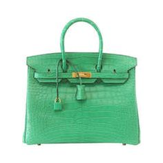 HERMES BIRKIN 35 Bag Matte Alligator CACTUS gold hardware NEW COLOR