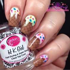 Nail Art ~ Ice Cream Nails