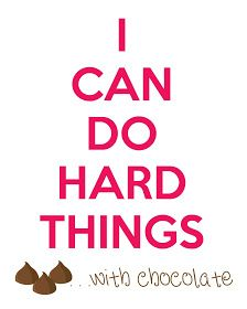 I Can Do Hard Things...with CHOCOLATE printable: Polkadots on Parade: