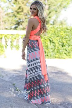 Don't miss out on this amazing printed infinity convertible dress!