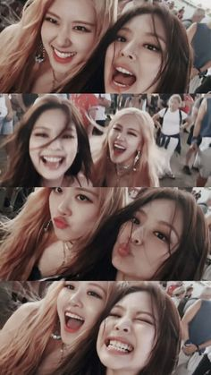 Blackpink, Rose e jennie Kpop Girl Groups, Korean Girl Groups, Kpop Girls, Divas, K Pop, Lisa Blackpink Wallpaper, Wallpaper Lockscreen, Black Pink Kpop, Blackpink Memes