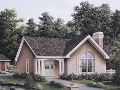 The Foxport Ranch Home has 3 bedrooms and 2 full baths. See amenities for Plan 007D-0107.