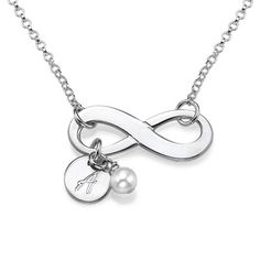 'Personalized Infinity Necklace in Sterling Silver'