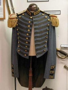 Civil War uniform of the Maryland Military School. These were mustered into service at the beginning of the war.