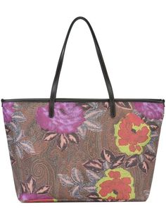 ETRO Floral Paisley Print Tote Bag. #etro #bags #polyester #tote #pvc #hand bags…