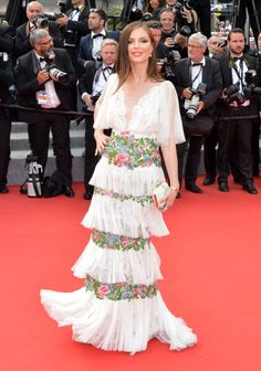Georgina Chapman in Marchesa. See all the looks from the Cannes Film Festival.