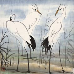 "Lin Fengmian (1900-1991), ""Thinking Three Times"". Chinese painter"