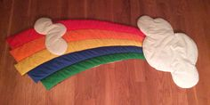 Vintage Wooltex Rainbow and Clouds Children's Wall Hanging https://www.etsy.com/shop/AmeliaBabble