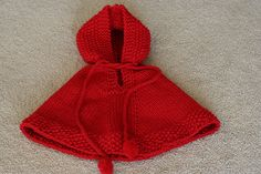 Little Red poncho free pattern