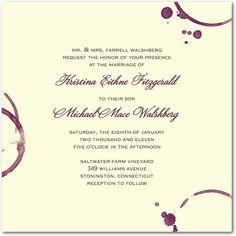 Modern Vineyard - Signature Ecru Wedding Invitations in Chambord | Lady Jae